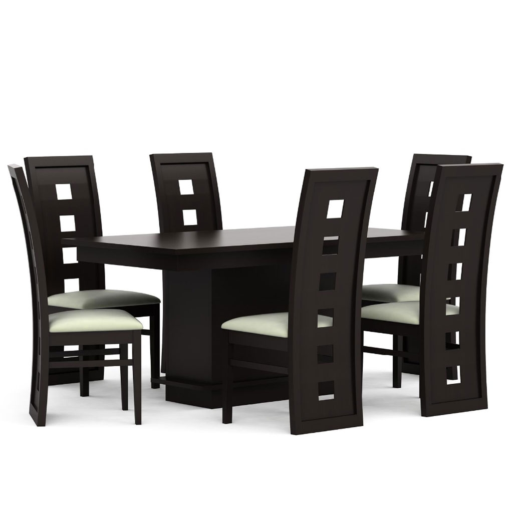 Comedor quadro de 6 sillas estilo contempor neo for Comedor 6 sillas coppel